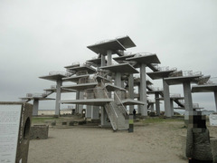 富津岬の先端の展望台