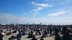 昼休み中の入間航空祭