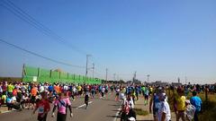 アクアラインマラソンスタート前