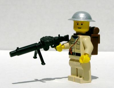 BrickArms Lewis gun and Brodie helmet prototypes