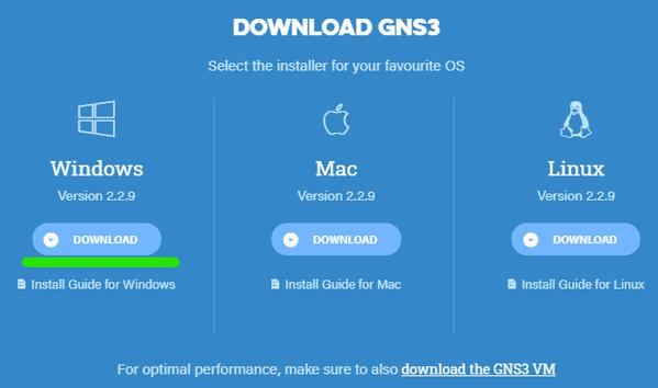 GNS3_ダウンロード2