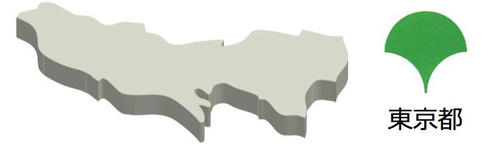 東京都-マーク&地図-イラスト