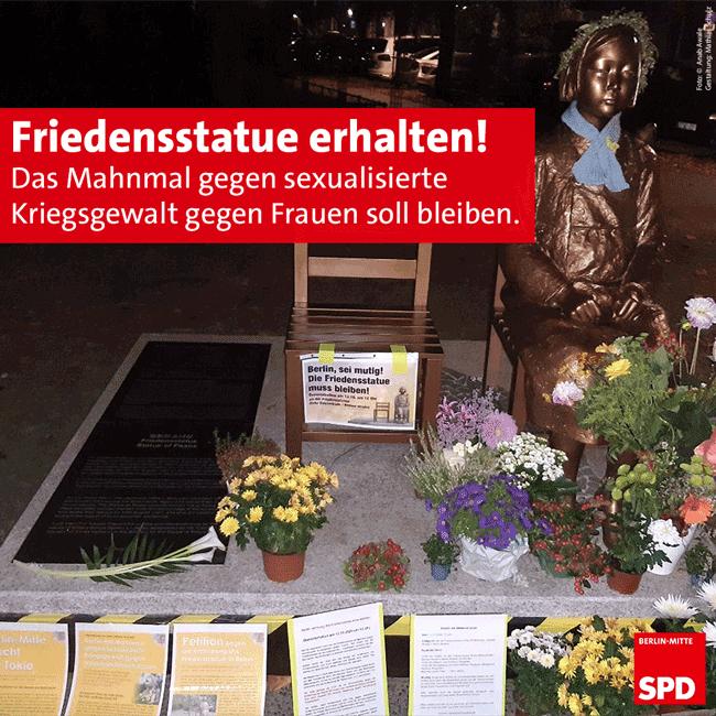 SPD_Mitte_Friedensstatue