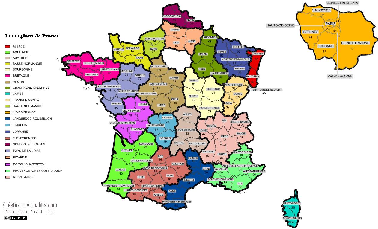 フランスの地域圏合併