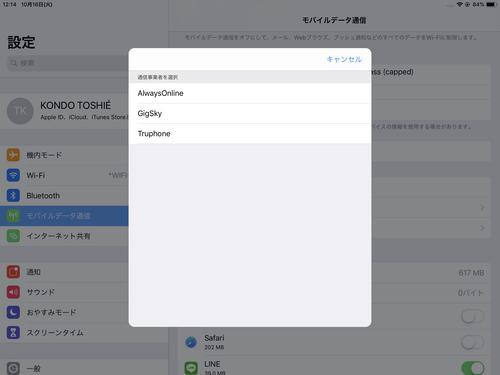 Apple SIMを使ってみて