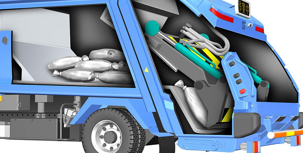 ゴミ収集車 仕組み