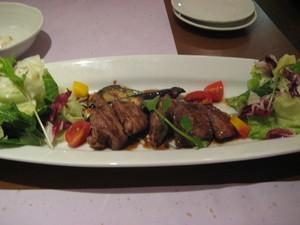 地鶏のフォアグラレバーと野菜の盛合せ