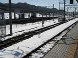 米原雪景色