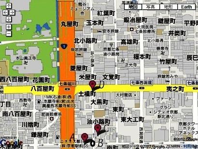 油小路地図