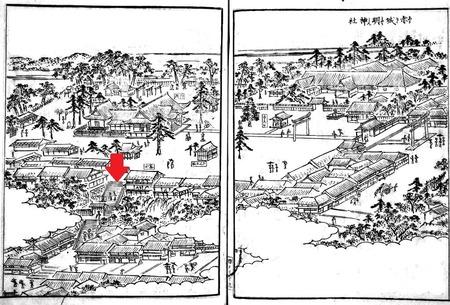 江戸名所図会(赤城神社)-1024x694
