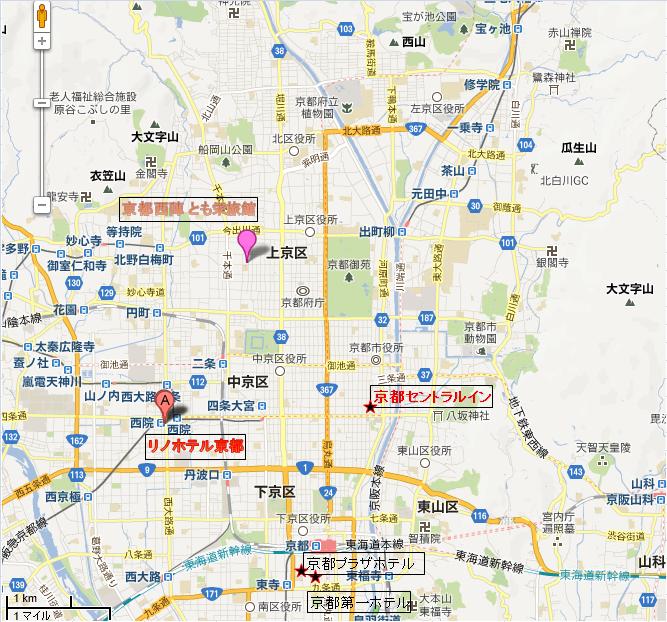 京都地図 京都観光