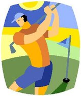 青空の下のゴルフって楽しい♪