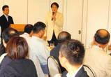 08・6 新入会員懇親会(成瀬さんスピーチ)