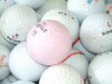 練習球でピンクボールが!