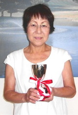 10・09 月例杯Bクラス優勝の若山さん