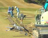 自動散水設備の設置工事(1番H)