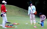 芝生の上で子供も大喜び♪