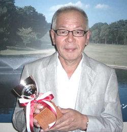 スクラッチ競技、優勝の福田貞夫さん