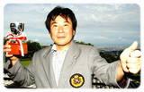 09・6 スクラッチ競技優勝・高砂吉孝さん
