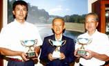 敬老の日杯優勝の左から足立さん・藤田さん・弓場さん