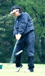 柴田プロのスイング