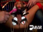 【潮ふき・オナニー動画】鼻フックが興奮する相葉レイカw感度抜群玩具責め