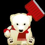 白熊(雪かき)