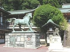 諏訪神社 神馬