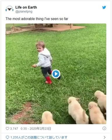 襲われる子供