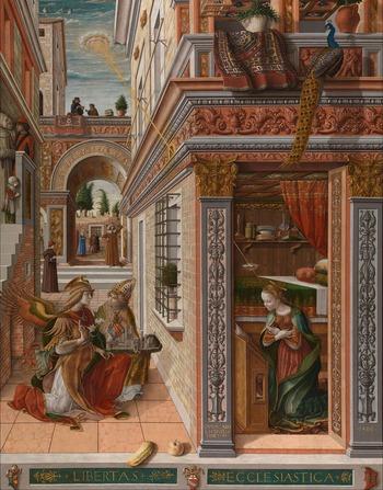 103-聖エミディウスを伴う受胎告知