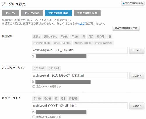 ブログ内URL形式