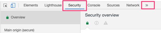 Securityをクリックする