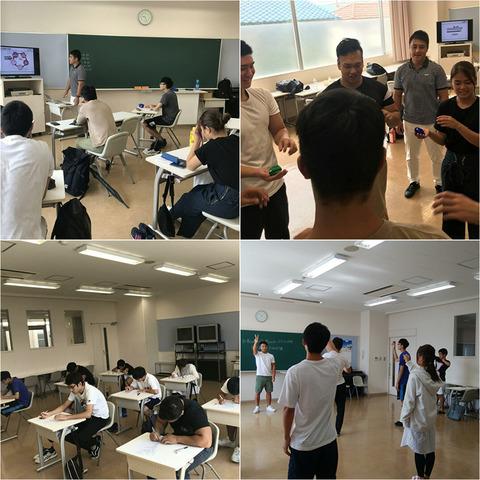 スポーツトレーナー学科シナプソロジー実習とテスト