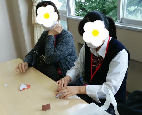 折り紙親子