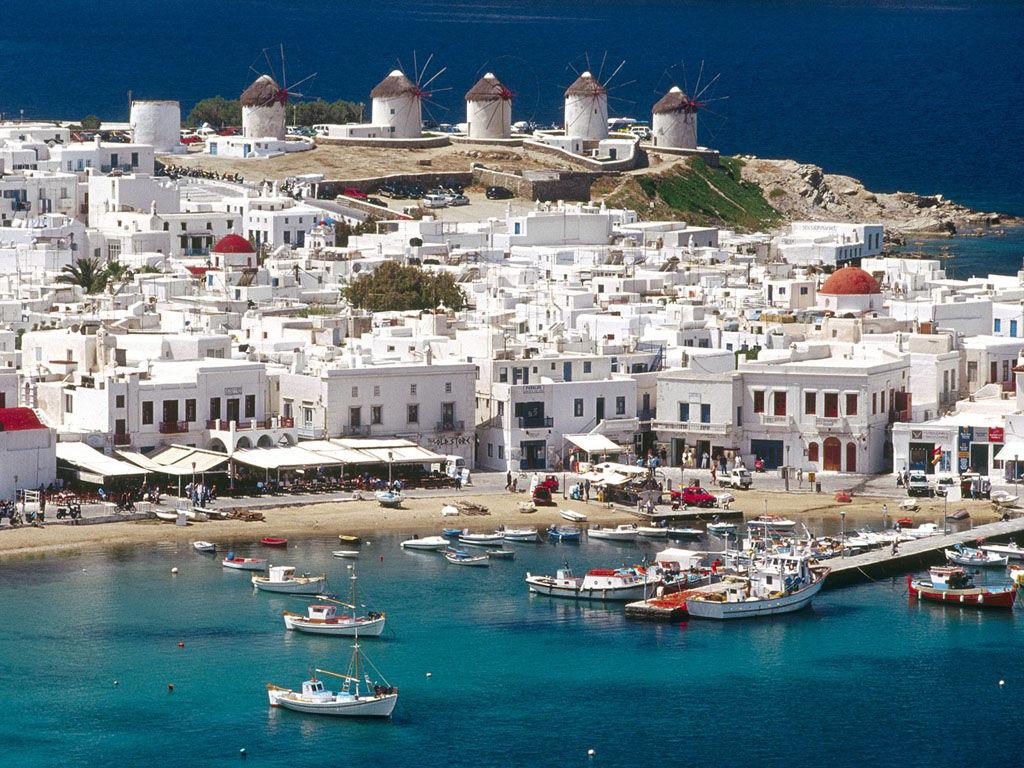 2)ミコノス島、サントリーニ島へのアクセス、言語、通貨など ...