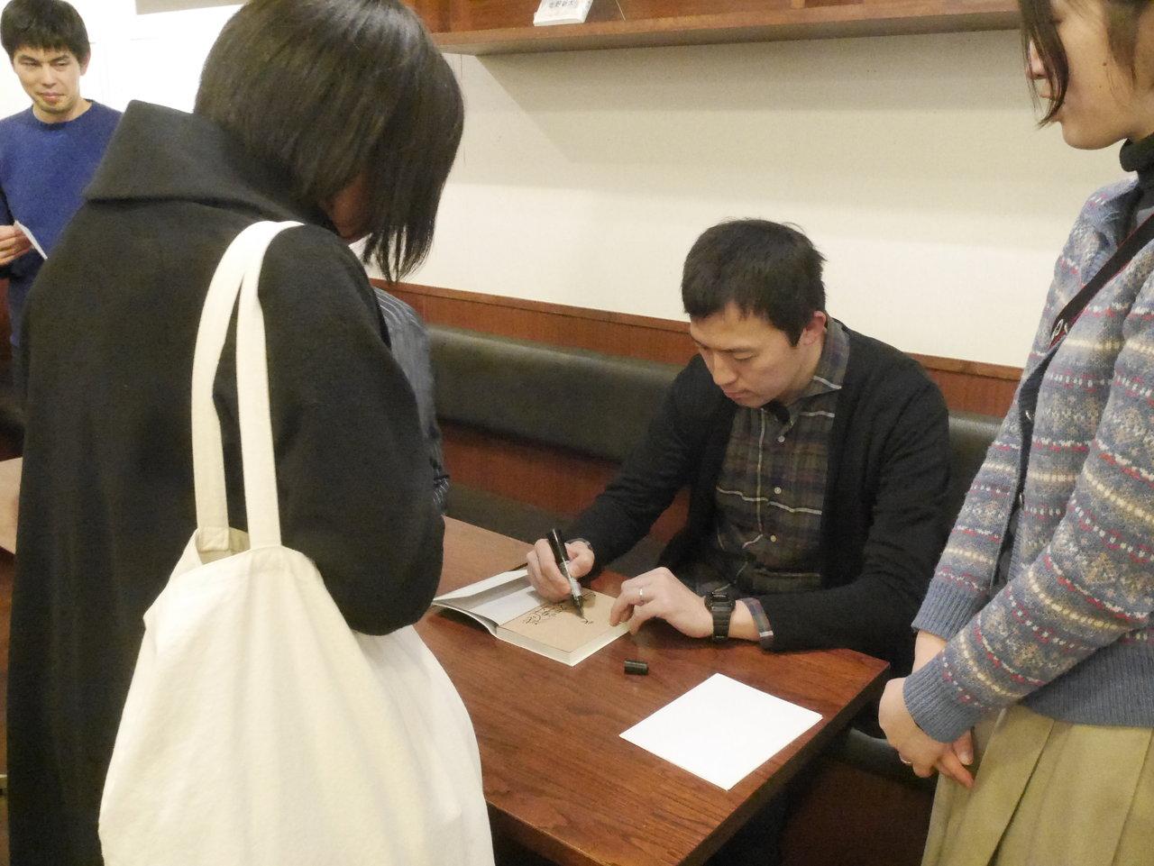 サイン会様子(北野さん)
