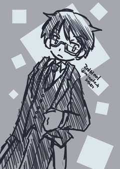 スーツ眼鏡