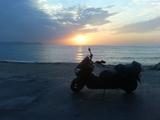 水晶浜(夕日1)