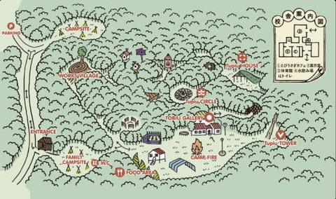 トビウキャンプ会場マップ