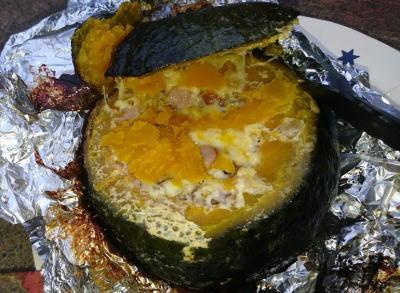 キャンプ料理 かぼちゃリゾット