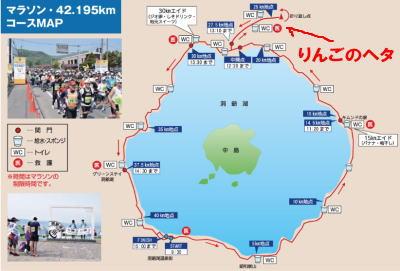 洞爺湖マラソン2018コースりんご