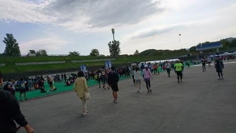 札幌マラソン競技場内