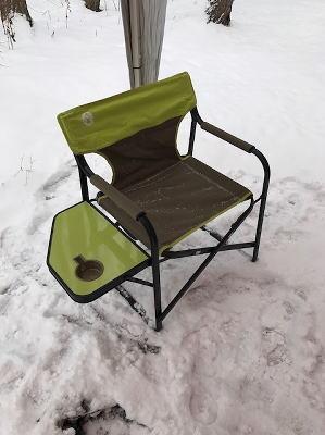 冬キャンプいす
