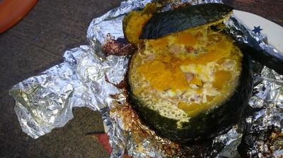 キャンプ料理かぼちゃリゾットその12