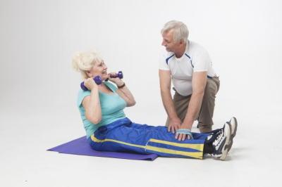 老夫婦トレーニング