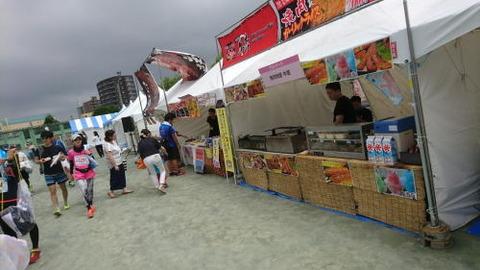 函館マラソンふるまいコーナー出店1