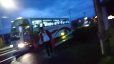 サロマシャトルバス到着