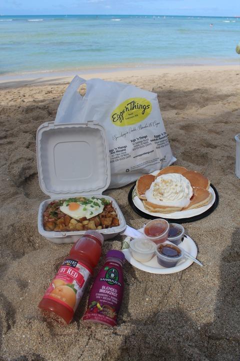 14年GWハワイ〜最終日の過ごし方:ワイキキビーチでご機嫌ブランチ@エッグスンシングス