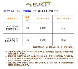 エイプリル2012.5-9価格表