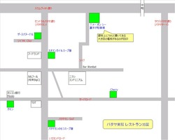 パタヤ東部レストラン地図
